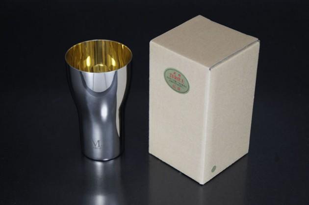 M-1タンブラーL24金仕上げ 茶色紙箱