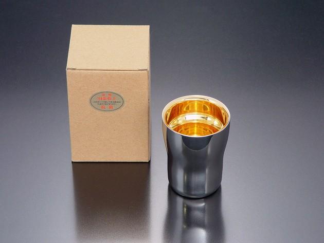 フリーカップ(24金仕上げ) 2重構造 小 (紙箱入り)