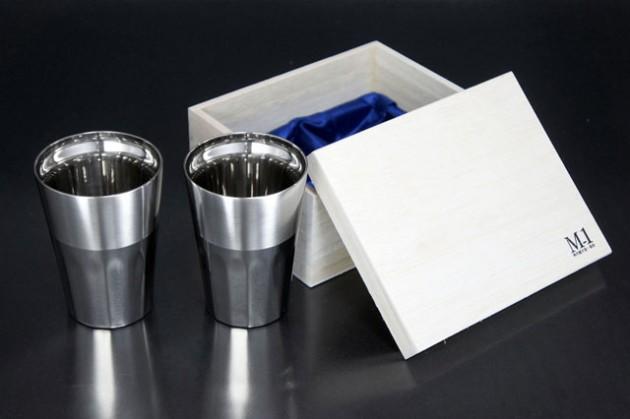 シルキーM (ステンレス2重構造) 2個セット 桐箱