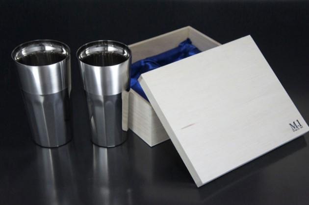 シルキーL (ステンレス2重構造) 2個セット 桐箱