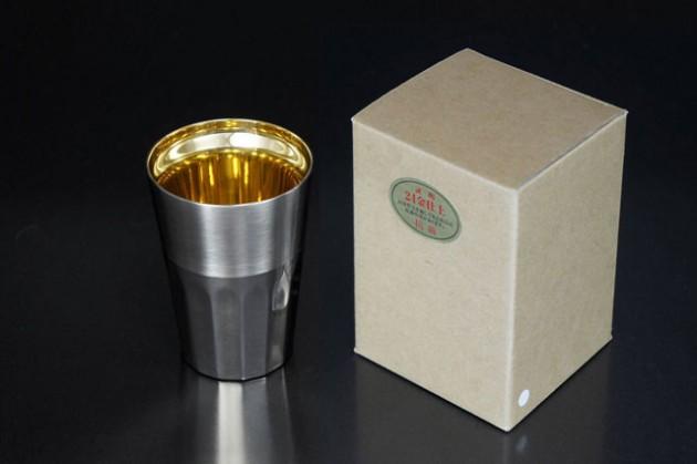 シルキーM 24金仕上げ (ステンレス2重構造) 茶色紙箱