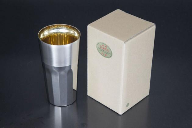 シルキーL 24金仕上げ (ステンレス2重構造) 茶色紙箱